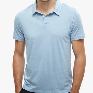 NWT Men's Onia Alec Jersey Polo Blue Sz Small
